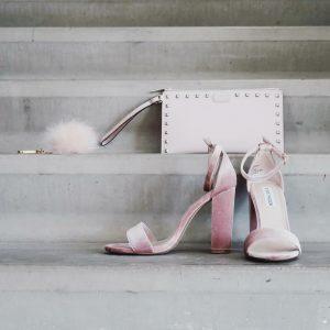 Roze sandalen met blokhak van Steve Madden