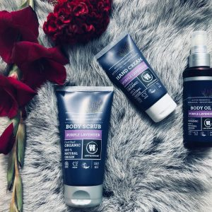 Urtekram - Lavendel bodyscrub, handcreme en bodyoil