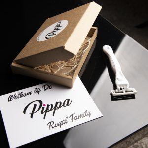 Pippa shaving